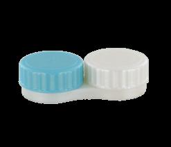 Flacher antibakterieller Kontaktlinsenbehälter